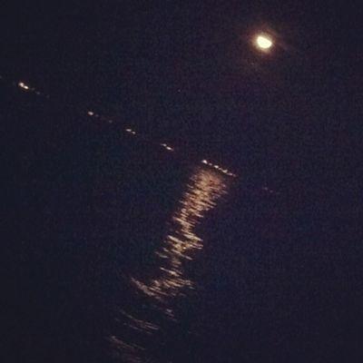 Moon night in fujairah