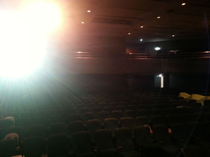 Shine a light through an open door At A Lecture