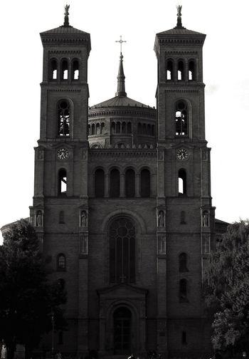 Putting the + in +-Berg Architecture Berlin Blackandwhite Church