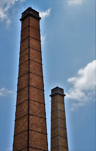 Architecture Building Exterior Built Structure Clock Clock Tower Cloud - Sky Day First Eyeem Photo History Low Angle View No People Outdoors Photos Now Sky Smoke Stack Tall - High Tower