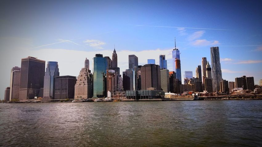 EyeEm Selects City Modern Tower Travel Destinations Architecture Summertime New York ❤ No People Vacations Clear Sky Built Structure Low Angle View Brooklyn Bridge / New York Brooklyn Ny