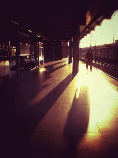 Ray of light! ♥ Public Transportation Street Photography WeAreJuxt.com Sunset_collection