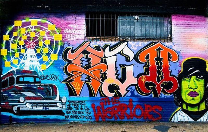 The Warriors! Just for Brooklyn! Classic Condyisland Brooklyngraffiti Bushwick Bushwickcollective Thebushwickcollective Warriors Streetart Spraypaint Onlyinbrooklyn