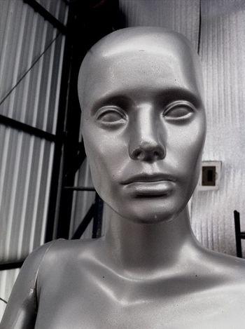 Face Silver  Creepy Doctor Who