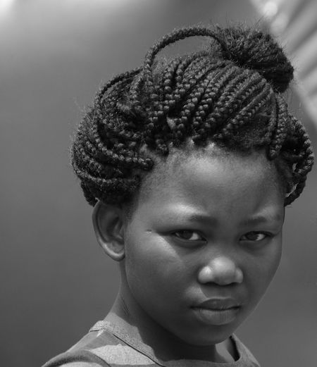African Girl  Braided Hair Childhood Close-up Cute Headshot Human Face Interior Design Portrait