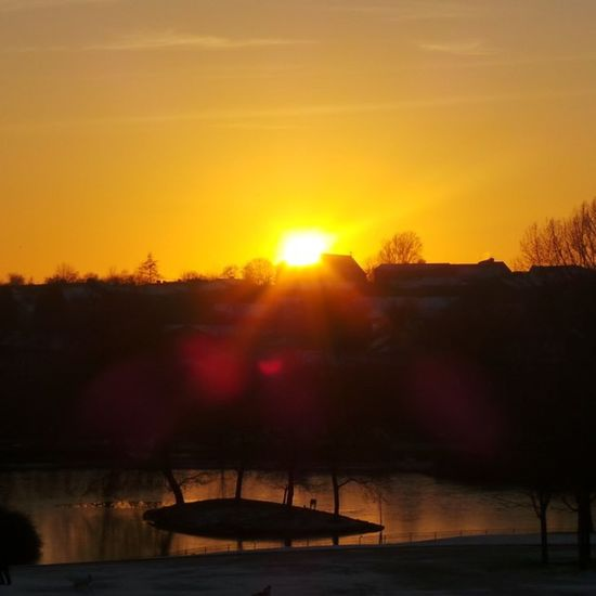 The Sunset over AlexandraPark , Oldham