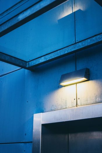 Lights in detail. Wall Blue Stadt Shaddow And Light Shadow Cityscape City Building Exterior Shuttrspeedphotpgraphy EyeEmNewHere EyeEm Best Shots EyeEm Arcitecturephotography Modern Architecture Modern Steel Light Architecture Architecture Built Structure No People Low Angle View Illuminated Blue Lighting Equipment Electricity  Indoors  Building Exterior Day Close-up Colour Your Horizn