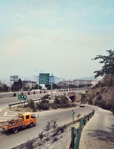 Traffic view Capture Photography Outdoors Moutain Climbing Road Mountain Road Highway Traffic Sign Track Interchange Bridge Guideboard Zhangjiakou China Dongtaipingshan