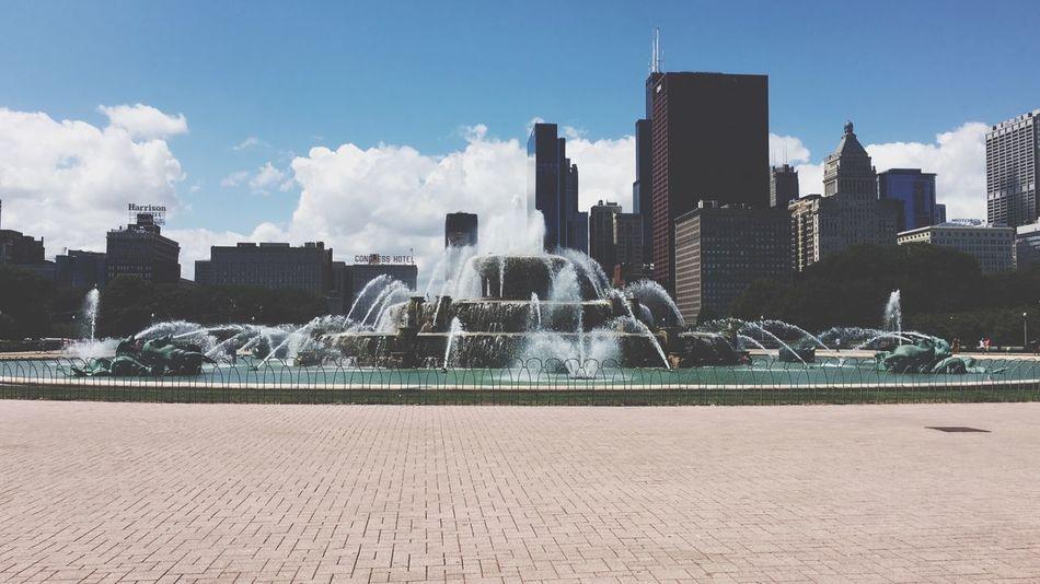 Fountain, Chicago Fountain Water City Cobblestone