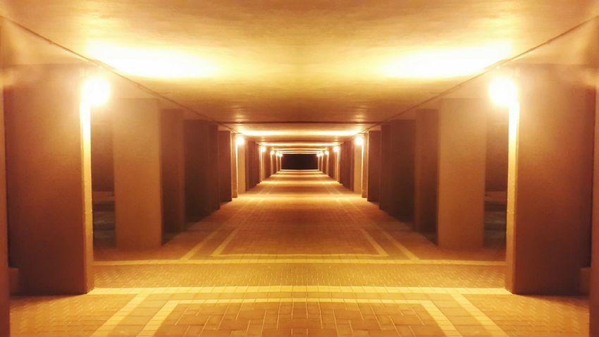 Recursion Yellow Way Building Mistic Silent Light Straight Night EyeEm