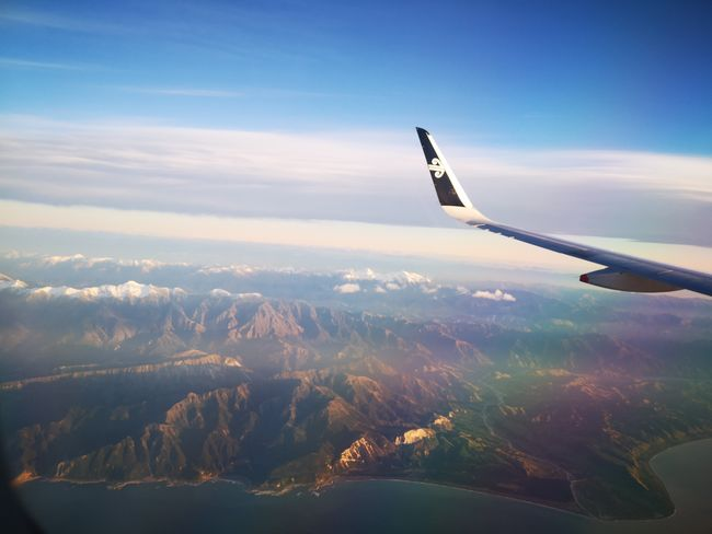 flying high above the south island New Zealand Airnewzealand Autumn Airplane Flying Aerospace Industry Mountain Sky