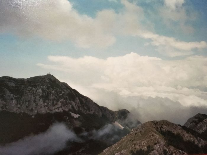 Analogue Photography 35mm Film Cloud - Sky Mountain Beauty In Nature Sky Scenics - Nature Tranquil Scene Tranquility Mountain Range