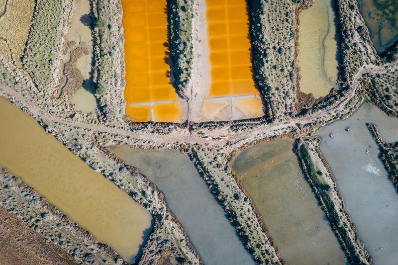 Drone shot of field