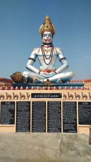 EyeEmNewHere Closeup Hanuman Indian God Outdoors Traditional Culture Travel Destinations Divine Beauty Divine Bajarangbali Maruti Anjaniputra