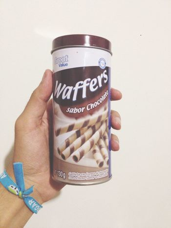 Waffers 🍫 Chocolate Waffers IPhone Iphoneonly IPhone4s Vscocam VSCO Cholula Photo Photography