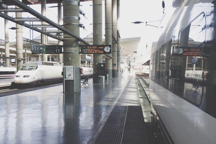 Transportation Day Architecture No People Train Station Platform Madrid Atocha Renfe Ave Alvia