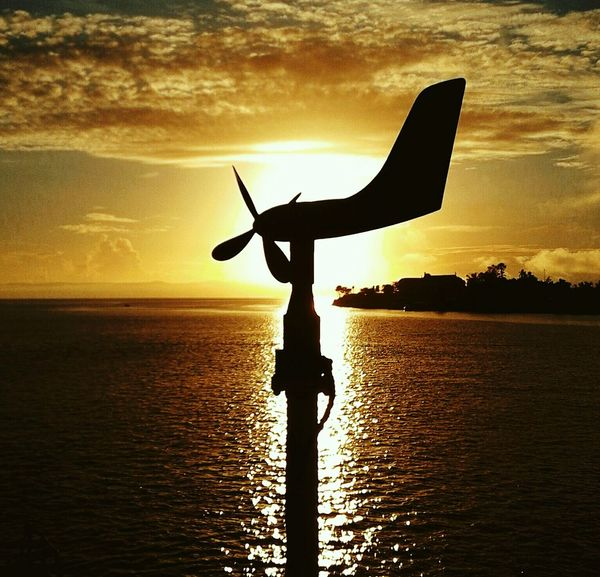Silhouette Test (wind indicator) At Anchor Marinduque,Philippines