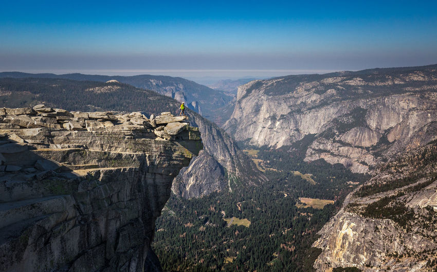 High angle view of yosemite valley