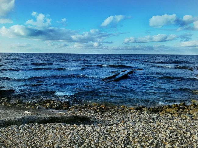 Sea Horizon Over Water Cloud - Sky Sky Water Beach Outdoors No People Day Nature Beauty In Nature Scenics Wave Color Of Life Colors Water Sea Sea And Sky Sea View Sea_collection Sea Life Italy🇮🇹 Italiansea EyeEmNewHere Neighborhood Map Live For The Story