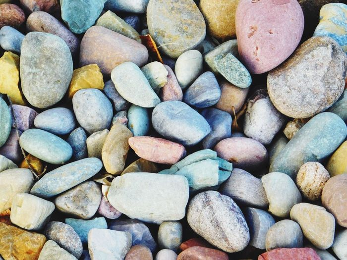 Full frame shot of colorful pebbles