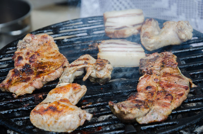 Barbecue Barbecue Grill Beef Chicken Meat Food Grilled Grilled Chicken Meat No People Picnic Pork Preparation  Ready-to-eat Steak