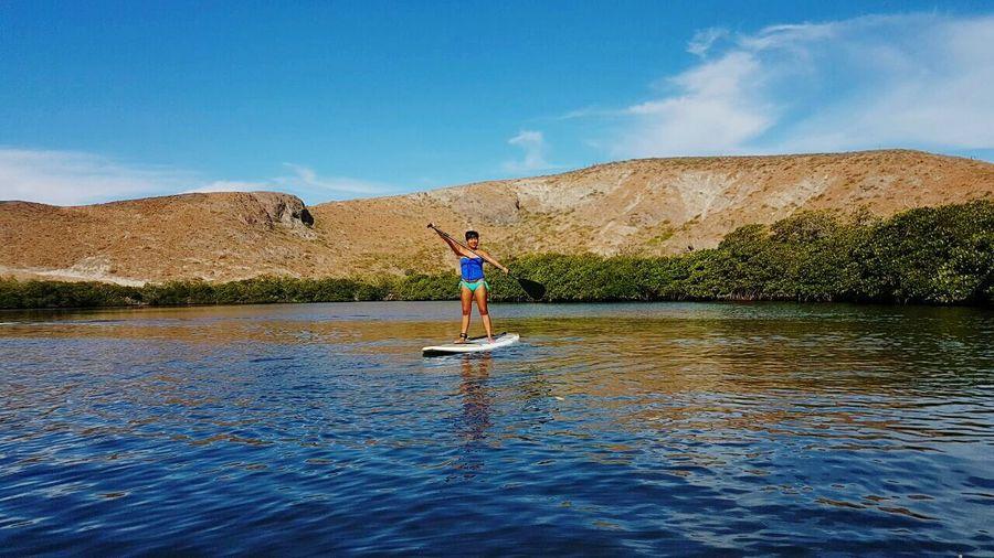 Balandra Floating On Water Paddleboarding Beach