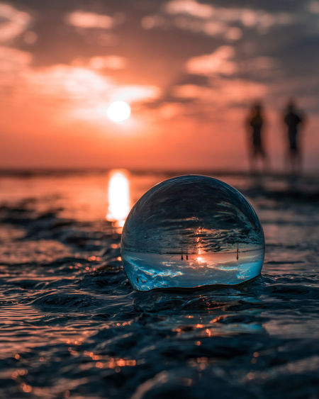 Crystal ball reflections in the morning 10 Cityscape Creative Photography EyeEmNewHere Beauty In Nature Close-up Creative Crystal Ball Glass - Material Illuminated Nature Orange Color Outdoors Reflection Scenics - Nature Selective Focus Sky Sphere Sunset Transparent Water The Still Life Photographer - 2018 EyeEm Awards The Creative - 2018 EyeEm Awards A New Beginning Capture Tomorrow