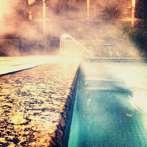 Pool Steam Hot Warm Winter Toronto Ontario, Canada Indoor Outdoor Jump In Take A Dip Shallowwaters Deepwaters Sheraton Blue Nightswim
