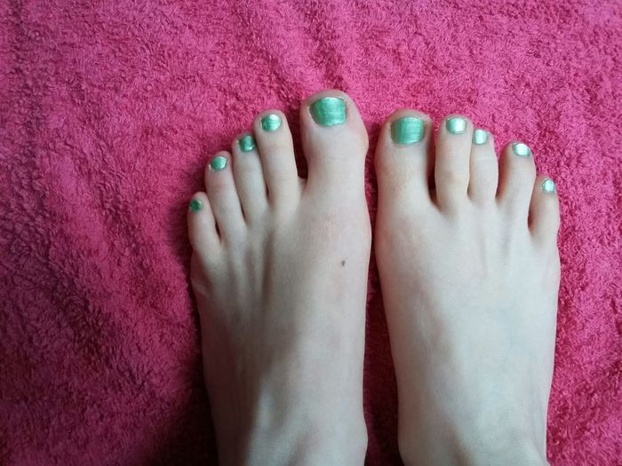 Human Body Part Nail Polish Pink Color Only Women One Woman Only Adult One Person Leg Close-up Multi Colored Indoors  Day Pedicure ❤ Toes Summer Feet White Skin