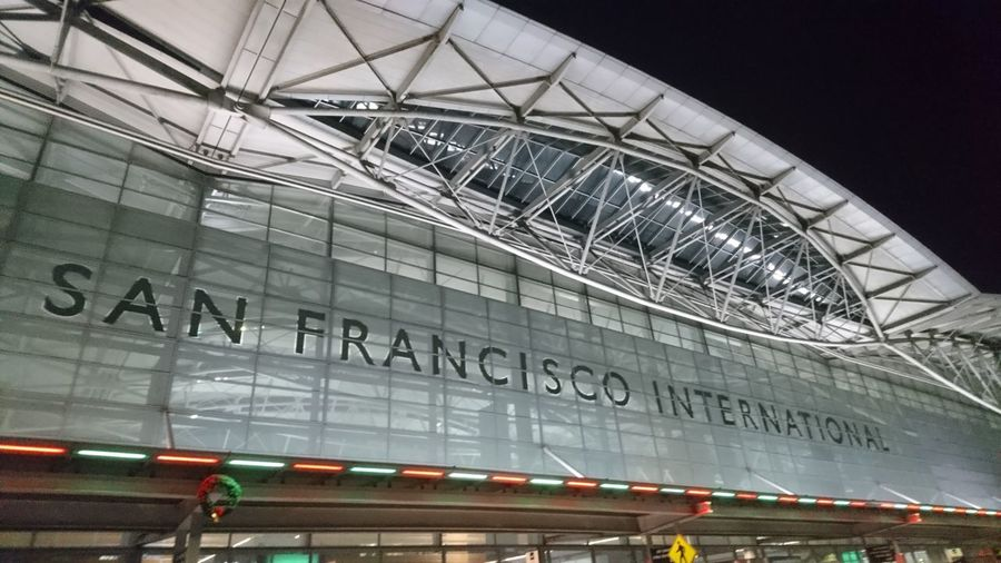 SFO. South San Francisco San Francisco SF Sfo CA California USA United States Airport Airport Terminal Lighting Arrivals Travel Travel Destinations Traveling Architecture Urban Landscape City Public Transportation Architecture Built Structure Travel