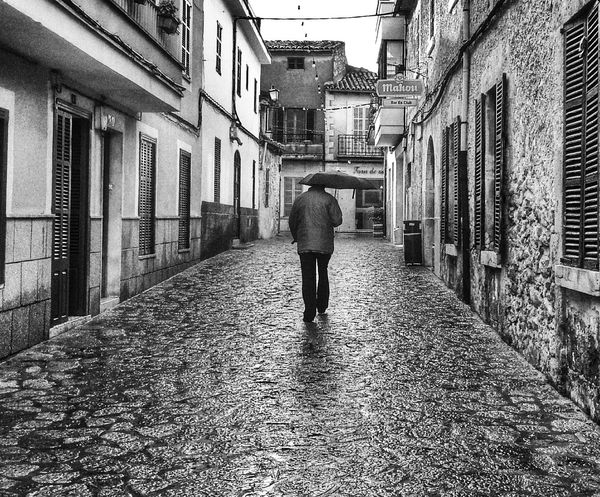 Streetphotography Blackandwhite Rain Solitude