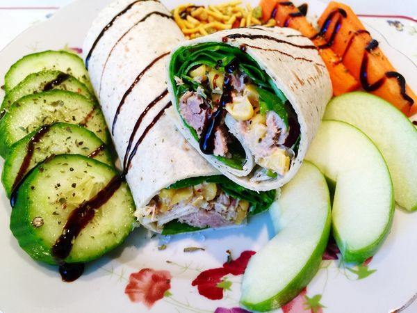 Wrap Sandwiches Lunch Healthy Food