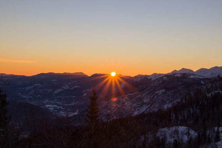Sunrise high in