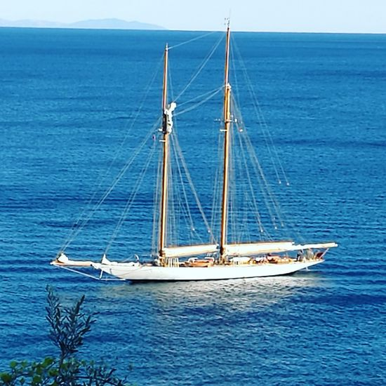 Nautical Vessel Transportation Mode Of Transport Water Sea Sailboat Mast Boat Waterfront Scenics Sailing Travel Journey Blue Tranquility Tranquil Scene Nature Day Canvas Sky