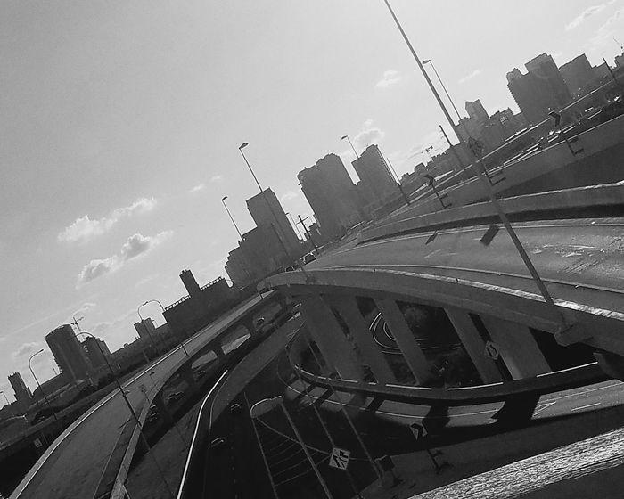 Hello World Highwayphotography adventures in the city Tall Buildings Highways&Freeways Concrete Jungle Empty Roads Cityscape City Sky Urban Skyline Skyline