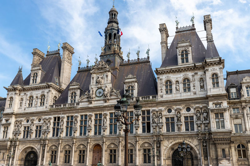 View at townhall hotel de ville in paris, france