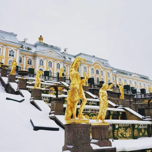 Saint Petersburg Travel City Cultures Tourism History Architecture Gold Colored No People Санкт-Петербург Питер ❤️ Winter Outdoors Cold Temperature Snow Day Travel Destinations Building Exterior Sky Vacations Gold Library City Gate