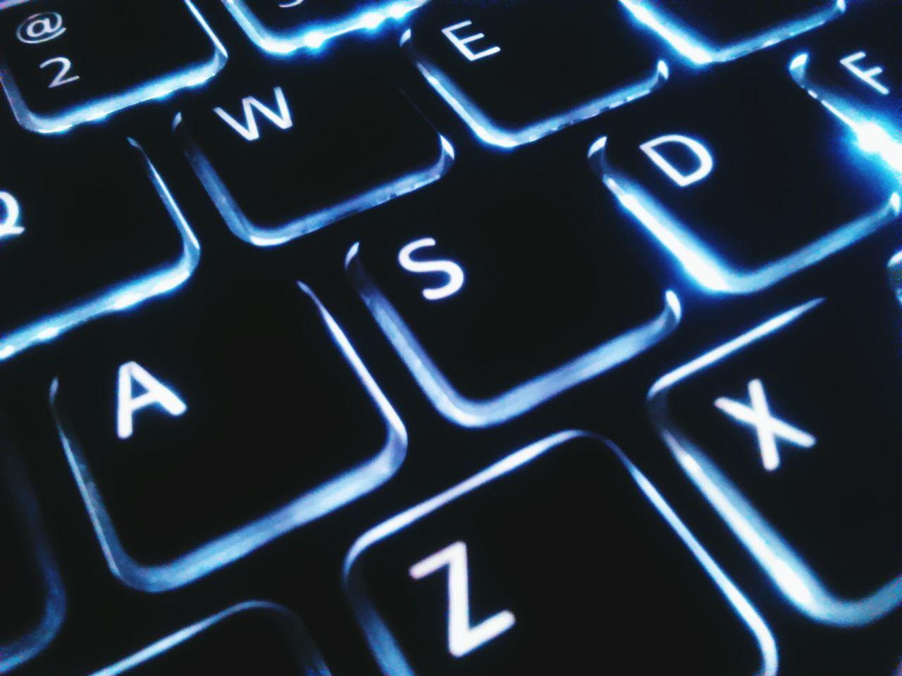 Full Frame Shot Of Laptop Keyboard