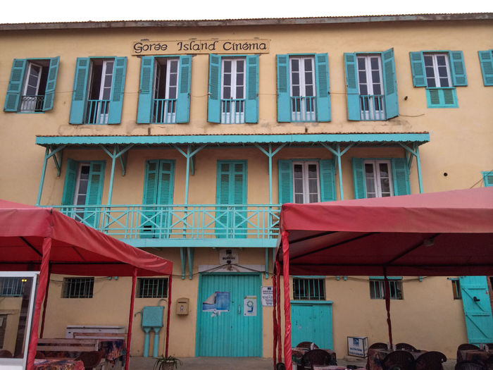 Africa Africa Collection Architecture Balcony Building Exterior Built Structure Cinema Cinema In Your Life Cinema Look Dakar Day Goree Island Goreeisland2016 Gorée No People Old Buildings Old Cinema Old Cinema Wall Vs Coffee Pub Outdoors Senegal Window