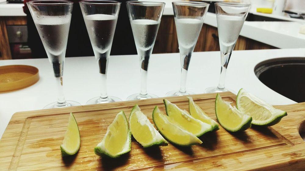 Mini Bar Attack Tequila Shots Lemon Hangover Drinking Lifestyles Handover