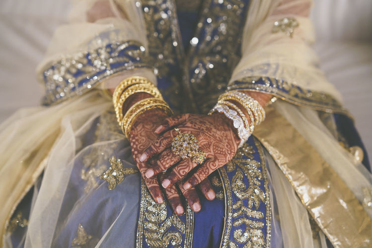 Midsection Of Indian Bride