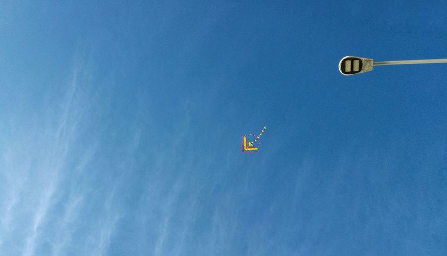 ✌Sky Led Lights  Ledlamp Kite Kite Flying Playing Blue Wave