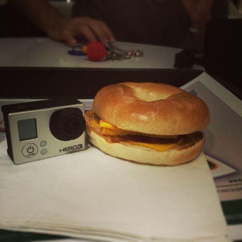 Facciamo I Turisti.... Breakfast Mcdonalds McDonald Donut bagel gopro portrait goprohero3 work usa rome party