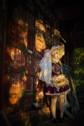 Cosplay based on Japanese mythology in traditional temple.(toho project) Cosplay Japan Japan Photography Portrait Of A Woman Touhou Project Cosplayer Evening Portrait Traditional EyeEmNewHere