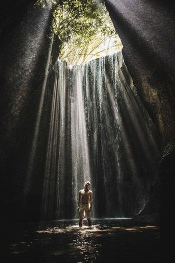 Cave waterfall in bali