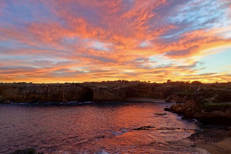 Sun Sea Sky And Clouds Beach Landscape Nature Plemmirio - Pillirina 🐠 Siracusa Sicily Italy Water Sunset Multi Colored Sky Landscape Cloud - Sky