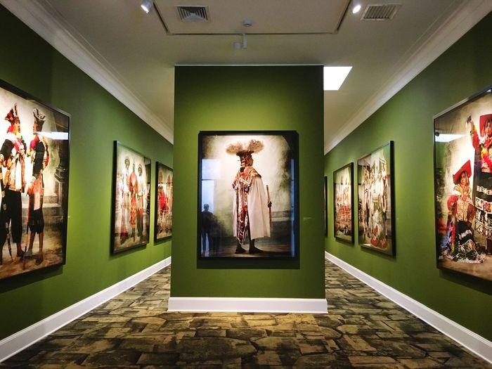 Green Human Representation Indoors  Architecture Built Structure Illuminated Day Peru Peruvian Museum Mario Testino