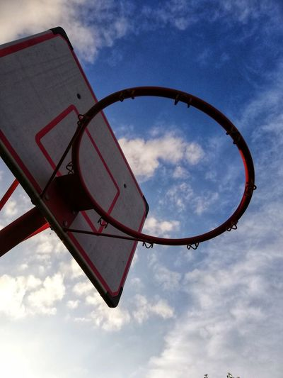 Backyard Looking Up Ring Basketball Ring Basketball Hoop Basketball Sky City Basketball Hoop Sunset Arts Culture And Entertainment Golf Club Sky Cloud - Sky Basketball - Sport Slam Dunk