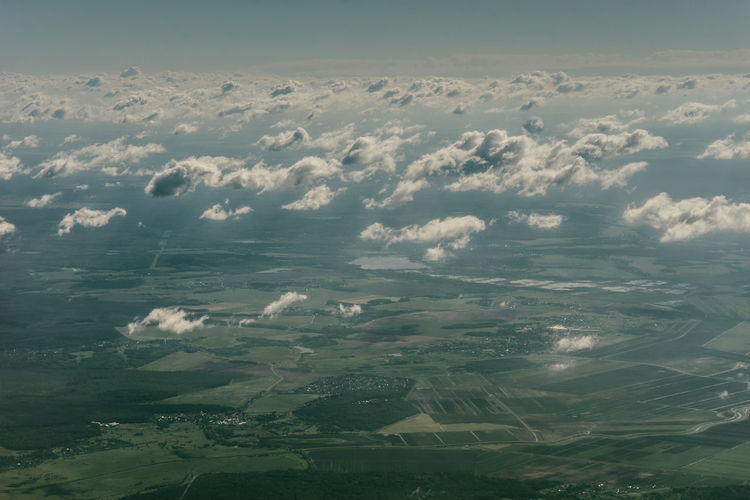 Aerial View Agriculture Beauty In Nature Cloud - Sky Day Environment Field Idyllic Land Landscape Nature No People Non-urban Scene Outdoors Rural Scene Scenics - Nature Sky Tranquil Scene Tranquility View Into Land Water