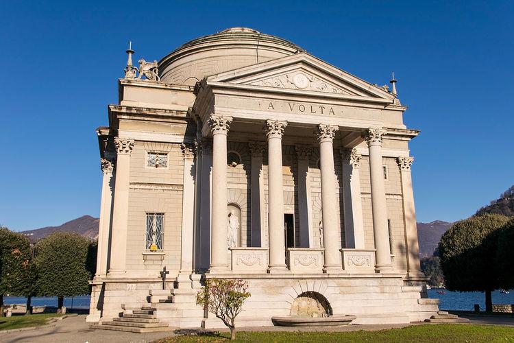 Alessandro volta's temple. como - italy
